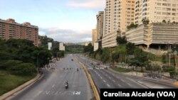 Đường phố ở thủ đô Caracas, Venezuela trong ngày đầu đình công, ngày 26/07/2017.