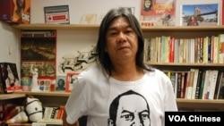 """綽號""""長毛""""的立法會議員梁國雄(資料圖片)"""