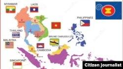 東盟成員國地圖