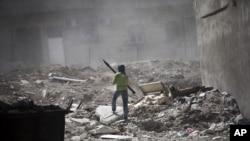 Borac Slobodne sirijske armije u Alepu.