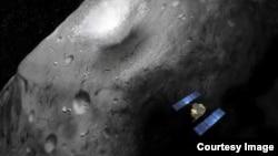 An artist's rendition of the Hayabusa-2 asteroid explorer. (JAXA)