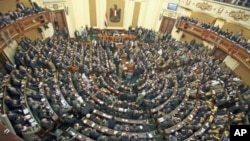 이집트 독재자 호스니 무바라크의 축출 이후 첫 의회 개원