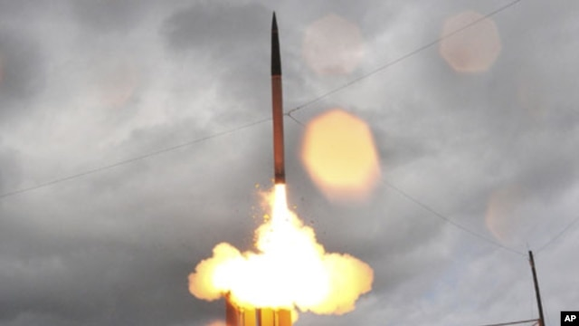 A THAAD missile test launch (file photo)