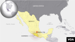 State of Guerrero, Mexico, epicenter of earthquake May 8, 2014