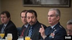 塞爾瓦上將2018年1月30日出席防務記者早餐會(美國國防部)