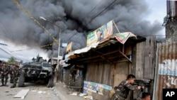 菲律宾政府军继续攻击三宝颜的反政府武装分子 (资料图片)