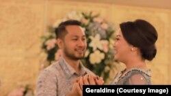 Geraldine dan pasangan terpaksa menunda pernikahan untuk antisipasi penyebaran corona