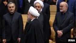 رئیس جمهوری ایران، برادرش حسین فریدون و سراج رئیس سازمان بازرسی