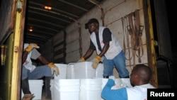 Des travailleurs de la santé à Monrovia, au Libéria