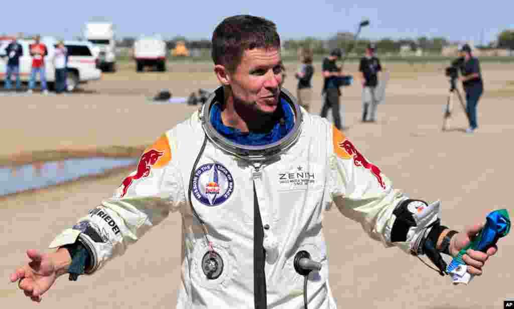 Baumgartner dit avoir connu un moment de grande humilité à 39 km de la terre