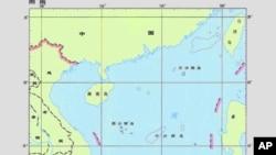 中國提交給聯合國的南中國海地圖
