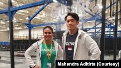 Citra Ramania dan Mahendra Aditirta mewakili Indonesia dalam 2019 CrossFit Games di Madison, Wisconsin, 1-4 Agustus 2019. (Foto: Mahendra Aditirta/dokumen pribadi)