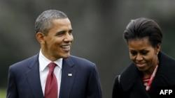 Президент США Барак Обама и его супруга Мишель