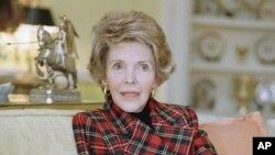 ننسی ریگن همسر رانلد ریگن رئیس جمهور پیشین ایالات متحدۀ امریکا بود.