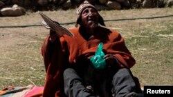 볼리비아 정부가 세계 최고령자로 기네스북 등재를 추진 중인 카르멜로 플로레스 라우로 할아버지(123세).