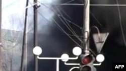 Ингушетия: горит автомобиль у полицейского участка. Архивное фото.