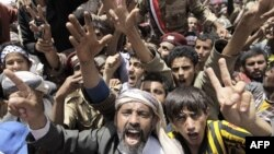 Prizor sa današnjih antivladinih demonstracija kraj univerziteta u Sani, glavnom gradu Jemena