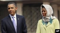 سهرۆک ئۆباما و میشێلی هاوسهری، (ئهرشیفی وێنه)