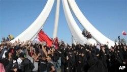 巴林示威者遊行往麥納麥的明珠廣場抗議