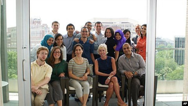 Egyptian and American participants of the LearnServeEgypt Program at one of their sessions in Washington, DC