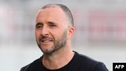 L'Algérien Djamel Belmadi à Doha, le 17 avril 2018.