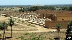نمایی از شهر باستانی بابل در 80 کیلومتری جنوب بغداد
