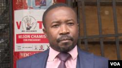 UMnu. Jacob Mafume, womanyano weMDC Alliance. (C Mavhunga/VOA)