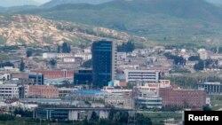 位於北韓邊界城市開城的朝韓聯合工業園區。
