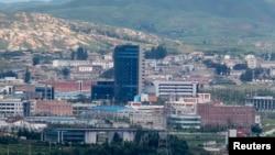 開城工業園區遠眺圖。