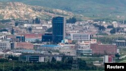 한국 경기도 파주 판문점 인근에서 바라본 개성공단. (자료사진)