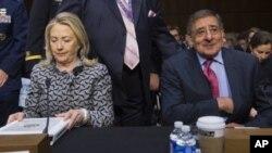 US officials Hillary Clinton and Leon Panetta testify on Land of Sea treaty