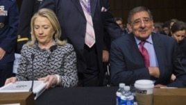 US officials Hillary Clinton and Leon Panetta testify on Land of Sea treaty