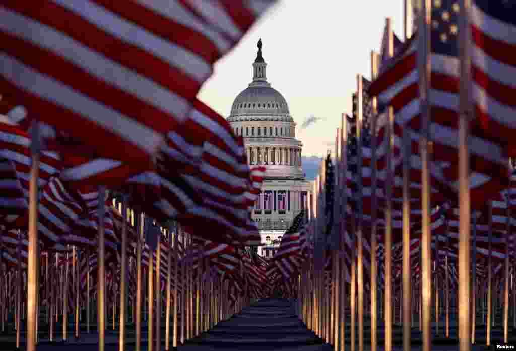 مقر کانگرس ایالات متحده، جاییکه مراسم تحلیف بایدن برگزار شد
