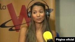 Dania Suárez ofreció una entrevista en la que participaron representantes de la prensa nacional e internacional. [Cortesía: WRadio]