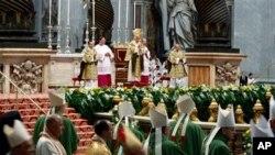 10일 바티간에서 미사를 집전중인 베네딕토 교황