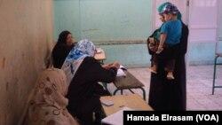 Bureau de vote pour les élections législatives égyptiennes à Giza, le 18 octobre 2015