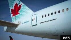 ایئر کینیڈا کا ایک مسافر طیارہ، فائل فوٹو