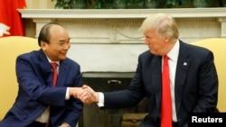 2017年5月31日,美国总统在白宫会见越南总理阮春福