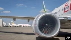 Pesawat-pesawat milik maskapai penerbangan Ethiopian Airlines di Bandara Internasional Bole, Addis Ababa, Ethiopia, 23 Maret 2019. (Foto: dok).