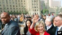 克林顿访问开罗的解放广场