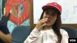 Monika asal Kalimantan Barat, tinggal 10 bulan di China dan dipaksa bekerja tanpa upah serta mengalami kekerasan seksual. (VOA/Rio Tuasikal)