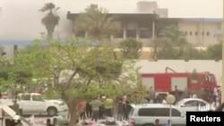 Ikibanza igitero ca bombe c'umwiyahuzi cabereyemwo ku cicaro ca komisiyo y'igihugu y'amatora ku murwa mukuru wa Libiya, Tripoli