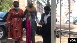 Mary Mubayiwa arriving in court in Harare on Thursday. (Photo: Thomas Chiripasi)