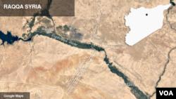 bản đồ về Raqqa, Syria