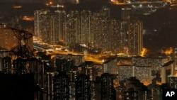 Hồng Kông về đêm, 1/4/2017.