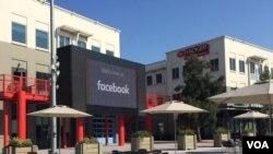 Markas Facebook di Menlo Park, Silicon Valley (VOA/Vina).