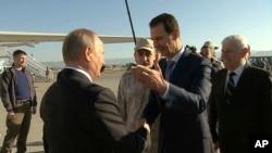Putin û Esad li bengeha Hmeymîmê (Arşîv)