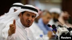 2014年4月20日沙特阿拉伯卫生部长阿卜杜拉·拉比耶在新闻发布会上