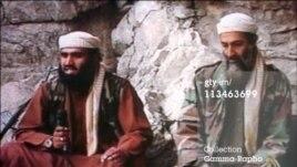 ဘင္ဘာဒင္နဲ႔ သူ႔သားမက္ျဖစ္သူ Sulaiman Abu Ghaithကို အတူ ေတြ႔ရစဥ္။