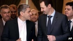 El presidente sirio Bashar al-Assad se reune este lunes 16 con el ministro iraní de Economía, Ali Tayebnia, en Damasco.